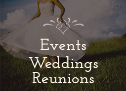Events, Weddings, & Reunion bookings